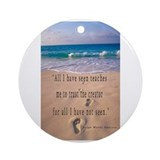 Footprints in Sand-Emerson Ornament (Round)