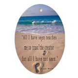 Footprints in Sand-Emerson Oval Ornament