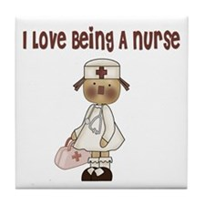 I Love Being A Nursse Tile Coaster