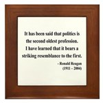 Ronald Reagan 8 Framed Tile