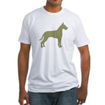 Sage Great Dane Fitted T-Shirt