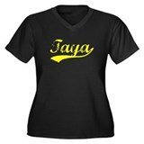 Vintage Taya (Gold) Women's Plus Size V-Neck Dark
