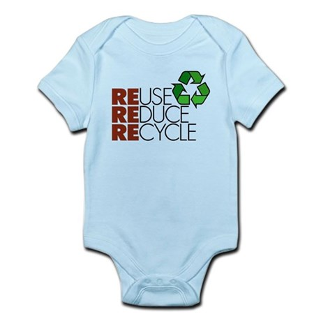 Reuse Reduce Recycle Infant Bodysuit