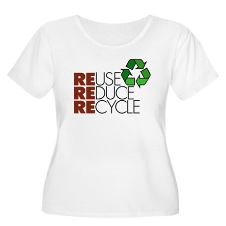 Reuse Reduce Recycle Women's Plus Size Scoop Neck