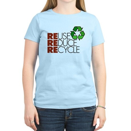Reuse Reduce Recycle Women's Light T-Shirt