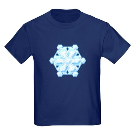 Flurry Snowflake VIII Kids Dark T-Shirt