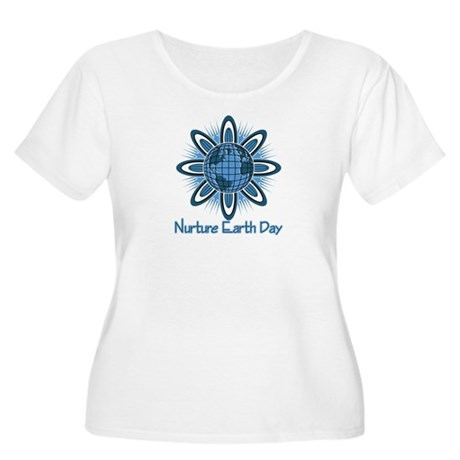 Nurture Earth Day Women's Plus Size Scoop Neck T-S