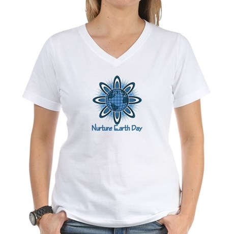 Nurture Earth Day Women's V-Neck T-Shirt