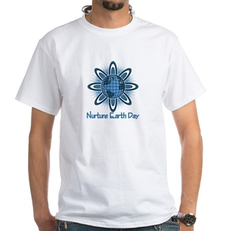 Nurture Earth Day White T-Shirt