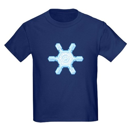 Flurry Snowflake VII Kids Dark T-Shirt