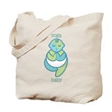 Yoga Baby : Blue & Green Tote Bag