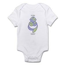 Yoga Baby : Purple & Green Onesie