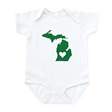 Green Michigan Onesie