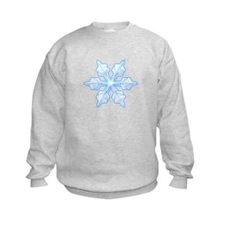 Flurry Snowflake VI Kids Sweatshirt
