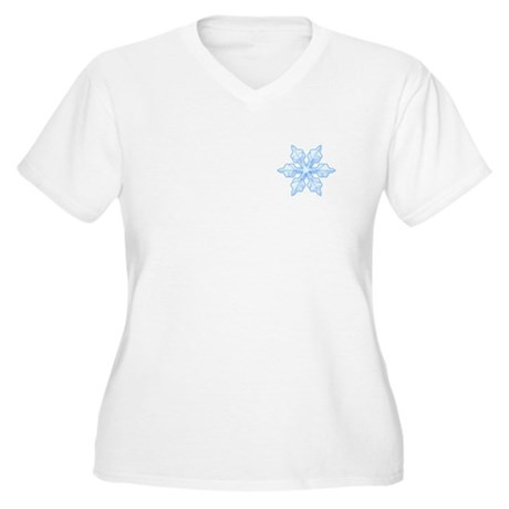 Flurry Snowflake VI Women's Plus Size V-Neck T-Shi
