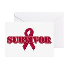 Burgundy Ribbon Survivor Greeting Card