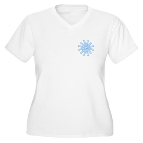 Flurry Snowflake V Women's Plus Size V-Neck T-Shir