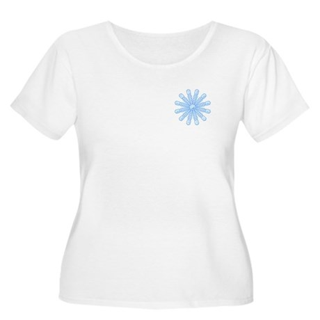 Flurry Snowflake V Women's Plus Size Scoop Neck T-