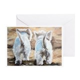 WESTIE DOG Greeting Card