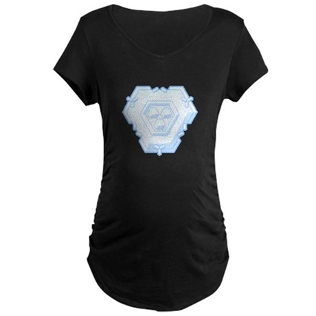 Flurry Snowflake IV Maternity Dark T-Shirt