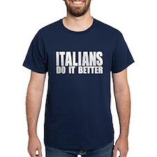 Italians Do It Better Navy Blue T-Shirt