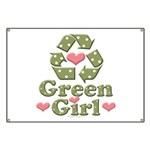 Green Girl Recycle Recycling Banner