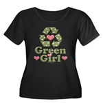 Green Girl Recycling Recycle Women's Plus Size Sco