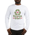 Green Girl Recycling Recycle Long Sleeve T-Shirt