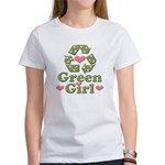 Green Girl Recycling Recycle Women's T-Shirt