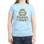 Green Girl Recycling Recycle Women's Light T-Shirt