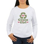Green Girl Recycling Recycle Women's Long Sleeve T