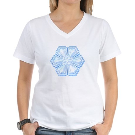 Flurry Snowflake II Women's V-Neck T-Shirt