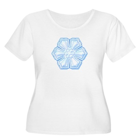 Flurry Snowflake II Women's Plus Size Scoop Neck T