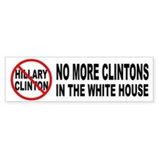 Anti-Hillary White House Bumper Car Sticker