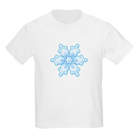 Flurry Snowflake I Kids Light T-Shirt