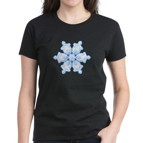 Flurry Snowflake I Women's Dark T-Shirt