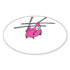 CH-47 Pink Oval Sticker (10 pk)