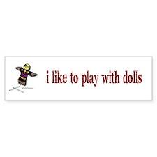 Voodo Doll Bumper Bumper Sticker