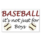 Not just for boys Rectangle Decal
