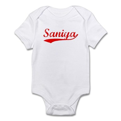 Vintage Saniya (Red) Infant Bodysuit