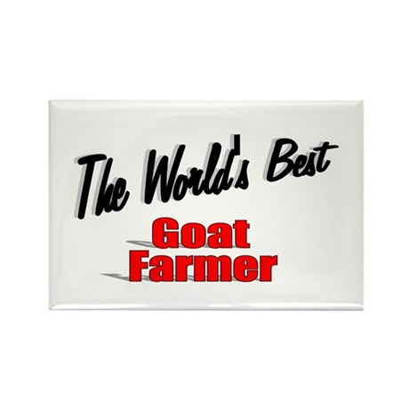 """The World's Best Goat Farmer"" Rectangle Magnet (1"