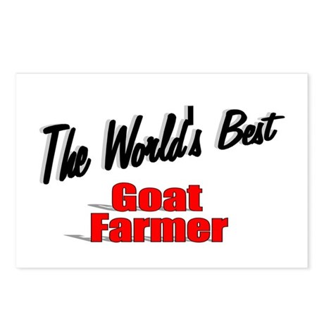 """The World's Best Goat Farmer"" Postcards (Package"
