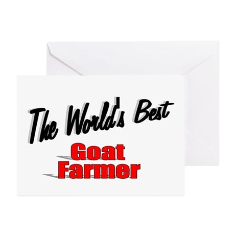 """The World's Best Goat Farmer"" Greeting Cards (Pk"