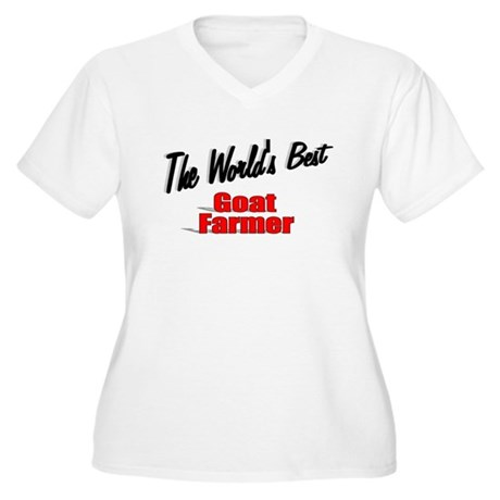 """The World's Best Goat Farmer"" Women's Plus Size V"