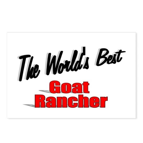 """The World's Best Goat Rancher"" Postcards (Package"