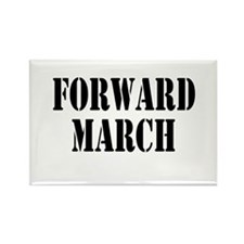The Official Forward March Rectangle Magnet (10 pa