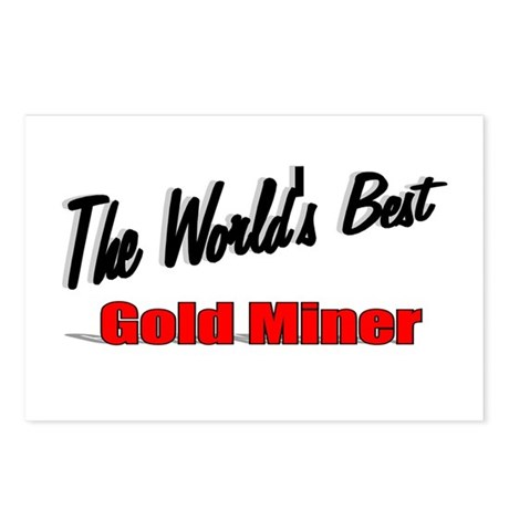 """The World's Best Gold Miner"" Postcards (Package o"