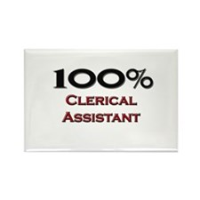 100 Percent Clerical Assistant Rectangle Magnet