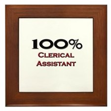 100 Percent Clerical Assistant Framed Tile