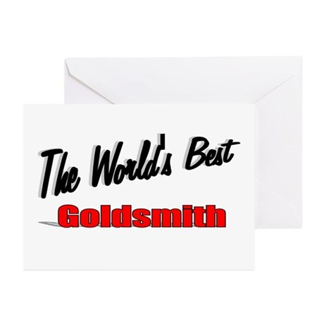 """The World's Best Goldsmith"" Greeting Cards (Pk of"